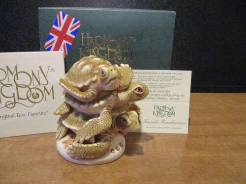 Harmony Kingdom Seaside Rendezvous V1 Green Sea Turtles UK Made Box Figurine