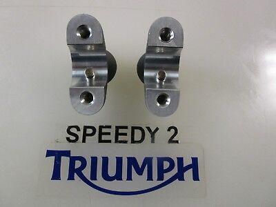 TRIUMPH BONNEVILLE BOBBER HANDLEBAR RISERS LOWER 254 MM GRAPHITE PINN