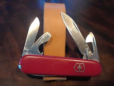 Vintage Victorinox Swiss Army Knife-Tinker Small 84 mm - Red - Pre-1973, Clip Pt