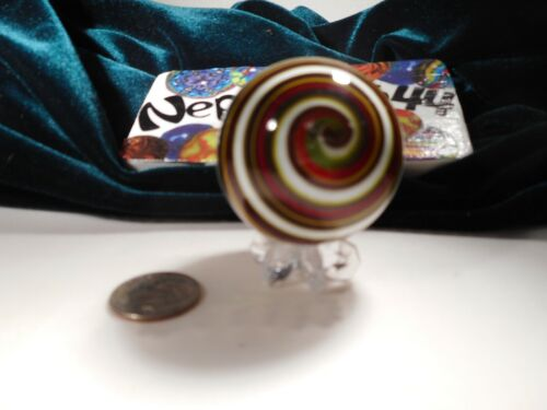 """~1 9/16""""~VERY PRETTY GLASS MARBLE~CooL AND UNiQuE~GET IT NOW!!"""