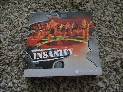 BEACH BODY INSANITY 10 DISC DVD BOX SET WORKOUT PROGRAM