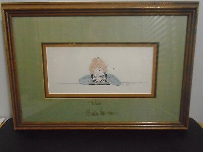 "VINTAGE 1982 P. BUCKLEY MOSS DUAL SIGNED PRINT 12.5"" X 18""  for sale  Mableton"