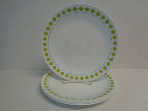 """Corelle South Beach Set of 4 Luncheon Plates 8-1/2"""" Diameter New Made in USA"""