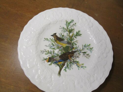 "CEDAR BIRD Birds of America Audobon Society embossed  8""  plate #43 England"