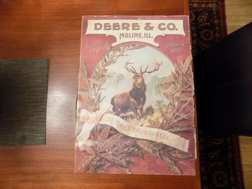 Deere & Co Moline, Ill 1947-1897 Original Cardboard Poster Calendar Cover?