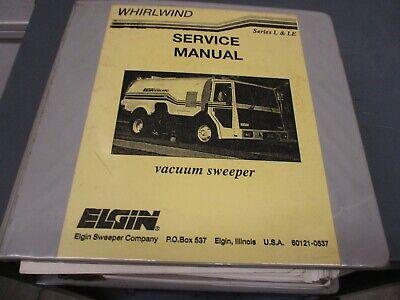 Elgin Whirlwind L Le Street Sweeper Service Repair Manual Book