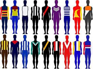 Australian Footy Skin Suits - Awesome Supporter Gear Melbourne CBD Melbourne City Preview