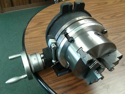 12 Precision Horizontal Vertical Rotary Table 10 3 Jaw Chuck Topbottom Jaws