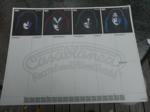 Kiss Desk Mat Calendar 1979