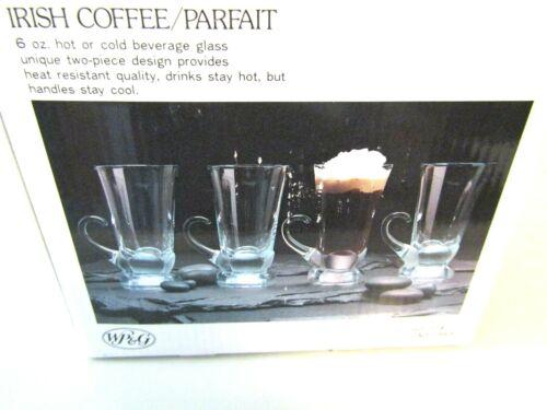 WP&G Set of 4 Irish Coffee/Parfait 6oz Heat Resistant Glasses Made in Japan
