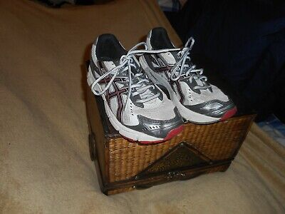 ASICS GEL-1160 DUOMAX CO38N WHITE, GRAY, AND BLACK MEN'S GYM SHOES SIZE 4 1/2
