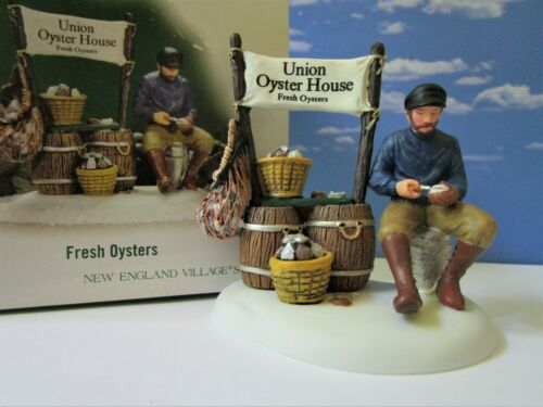 DEPT 56 New England Village FRESH OYSTERS FOR SALE!  Seafood, Ocean, Fishing
