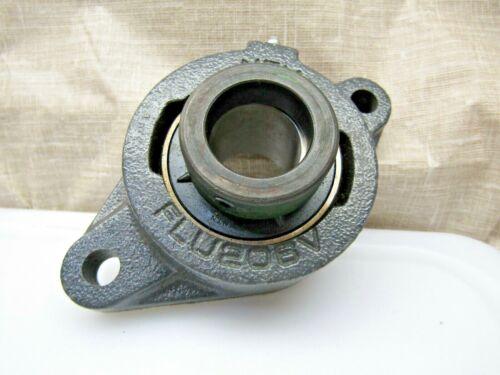 "NTN UELFLU206-102D1 1-1/8"" 2-Bolt Flange Mount Bearing w/ Lock Collar"