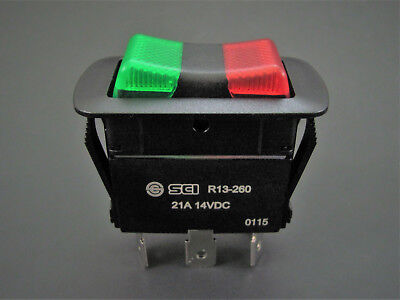 Illuminated Spdt On-off-on - Waterproof Rocker Switch - 21a 14v - Nte 54-241w