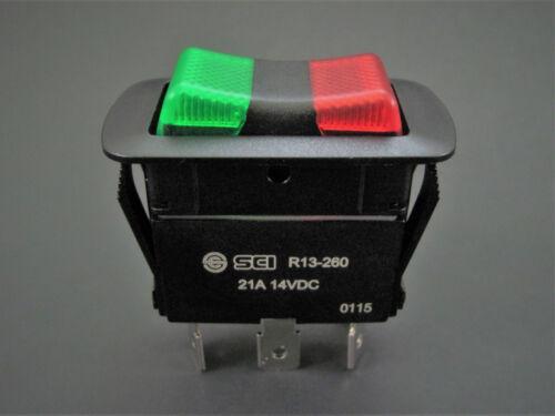 NTE 54-241W - Illuminated SPDT On-Off-On - Waterproof Rocker Switch - 21A @ 12V