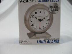 Westclox 90010A Metal Quartz Alarm Clock, Battery Powered. Free Shipping!  #2113