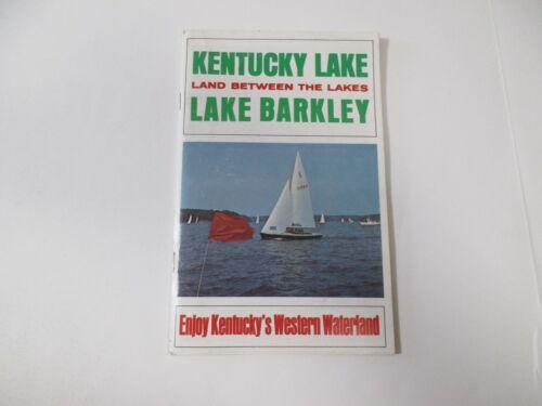Vintage Kentucky Lake Barkley Boating Camping Travel Brochure Booklet Map-B33