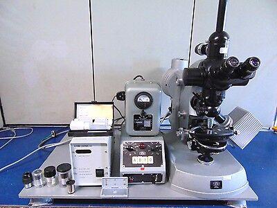 Carl Zeiss Binocular Laboratory Microscope W Kpl W10x18 Lens R610x
