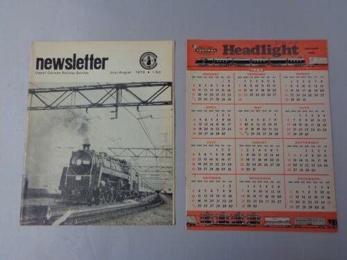 Lot of 2 vintage Railroad news Canada Railway 1973 and Headlight 1965 - trains