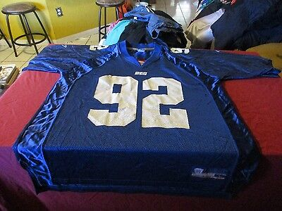 Michael Strahan  92 New York Giants Reebok Jersey Size L Nfl