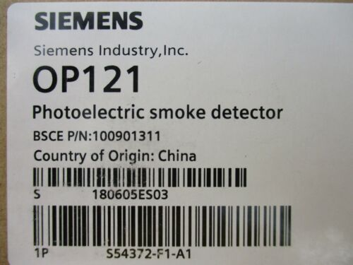 (NEW) SIEMENS OP121 CONVENTIONAL PHOTOELECTRIC SMOKE DETECTOR