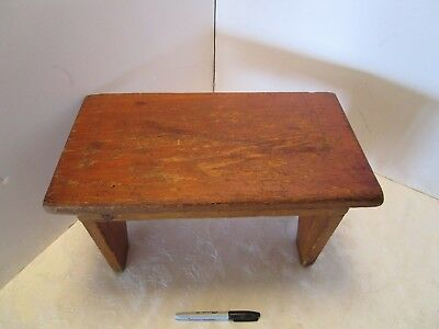 "Vintage Antique Wood Foot Step Stool Milking Rustic Farmhouse Primitive 16 ½"" W"