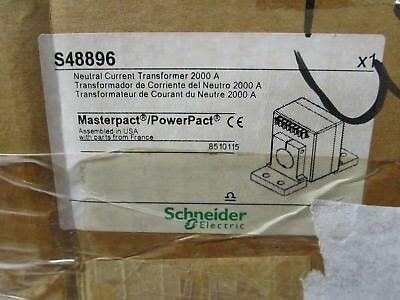 Brand New In Box Schneider S48896 2000 Amp Neutral Current Transformer
