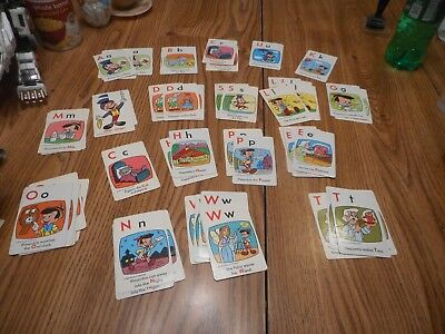 Vintage Card Game Disnay Alphabet Not Complete