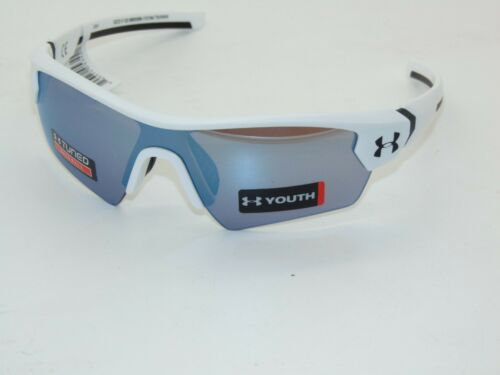 UNDER ARMOUR UA 8650095-110164 MENACE Youth White/Baseball Tuned Kids Sunglasses