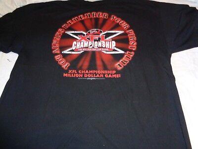 89ce81a0a 2001 XFL Championship The Million Dollar Game Adult XXL Shirt Football
