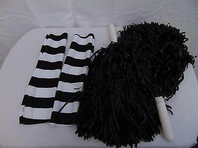 Punk Cheerleader Halloween Costume Accessories Arm Warmers & Pom Poms #1262](Halloween Cheerleader)