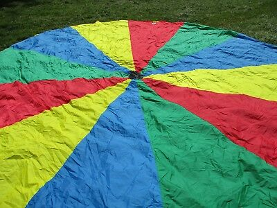 Pacific Play Tents PLAYCHUTE PARACHUTE - 12 FT- RAINBOW WITH HANDLES w/ case
