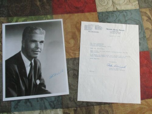 1969 Peter Dominick (Colorado Senator) Signed letter and photograph