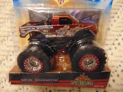 SPECTRAFLAME IRON WARRIOR  2010 Hot Wheels  Monster Jam Truck w/ flag