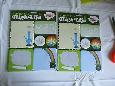 Living The High Life Sticky Notes Lot Of 2 New Both Sealed