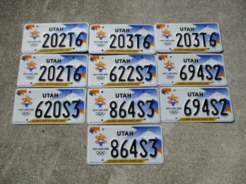 10 Utah Olympic license plate lot for collecting or decorating man cave #  2