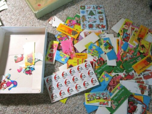 Large Lot Of Vintage Christmas Seals, Stickers, Gift Tags Lot