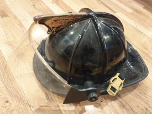 Black Traditional Fire Fighter Helmet  Cairns  f