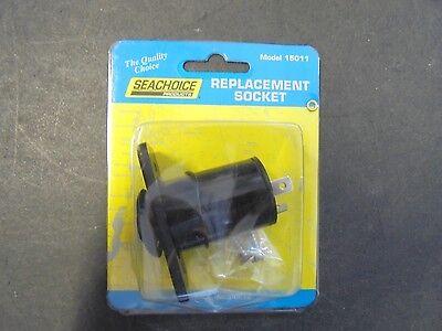 SeaChoice 12 VDC Cigarette Lighter Accessory Socket Power Outlet  15011 BLACK