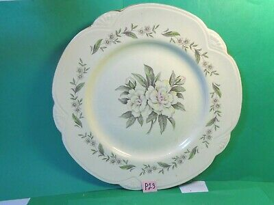 "Gardenia 10 1/2"" Floral Pattern Dinner Plate, Homer Laughlin (Used/EUC)"