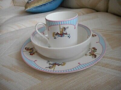 Tiffany & Co Carousel 3 piece Childrens Dish Set