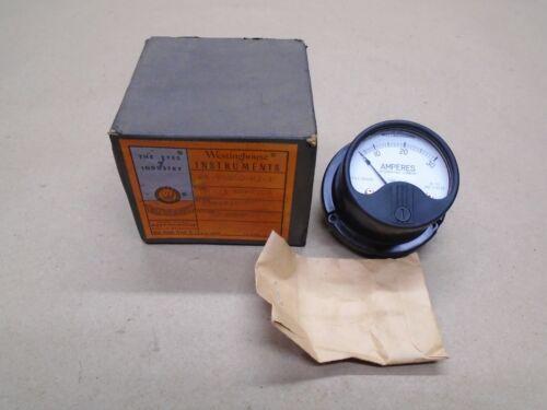 NEW Vintage Westinghouse AK-86860-N3-1 SA-33 Ammeter 0-30 Amp AC Style 1541436