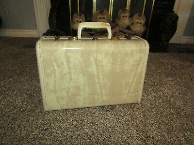 Vintage Samsonite Shwayder Bros Hard Carry On Suitcase Luggage CLEAN Cream