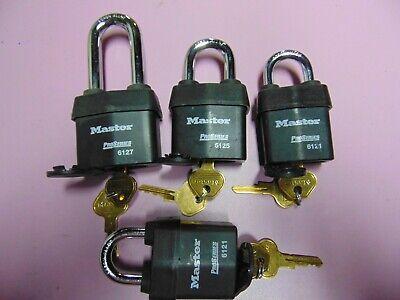 4 New Master Padlock Rekeyable With 2 Keys Each  Locksmith