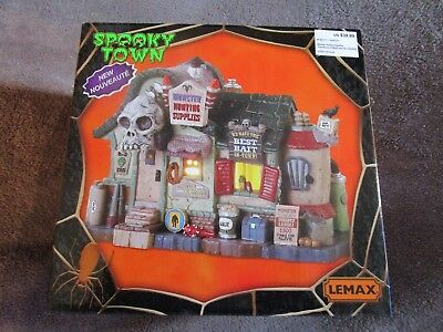 Halloween Lemax Spooky Town, Monster Hunting Supplies 2018  - Halloween Town Monster