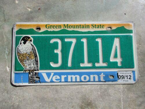 Vermont 2012 Falcon  license plate  #  37114