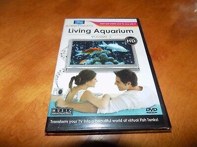 LIVING AQUARIUM VOLUME 2 Screen Dreams Virtual Fish Tank TV Background DVD NEW