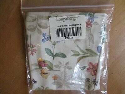 Longaberger Basket SMALL SQUARE WASTE Botanical Fields Liner Square Waste Basket