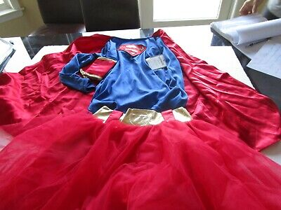 Pottery Barn Kids Halloween Costume super Girl  7 8  New