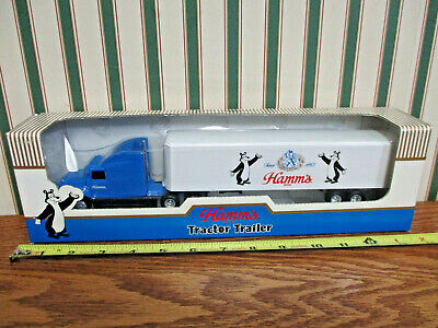 Hamm's Beer Ford Aeromax Semi With Van Trailer By Ertl 1/64th Scale >